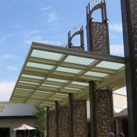 <b>Waterside Shops, Naples FL</b> </br>16' x 53' Naturalite skin system canopy</br> GC - Keene Construction